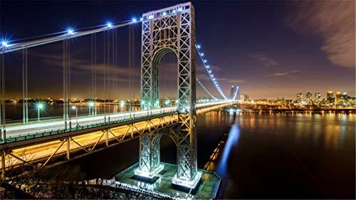 ClassicJP Puzzle Für Erwachsene 1000 Stück George Washington Bridge NYC Spielzeug Hobby Jigsaw