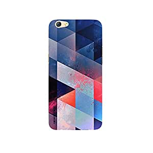 iSweven Blue_pink_color design printed matte finish multi-colored back case cover for Oppo R9s