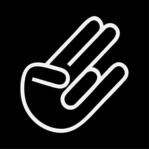 The Shocker Hand Aufkleber JDM Sticker DUB KULT OEM Autoaufkleber (WEISS) (Hand-aufkleber)