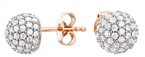 Esprit Jewels Damen-Ohrstecker 925 Sterling Silber Glam sphere rose ESER92607B000