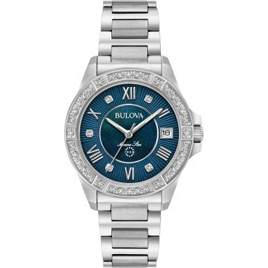 Ladies Bulova Marine Star Diamond Watch 96R215