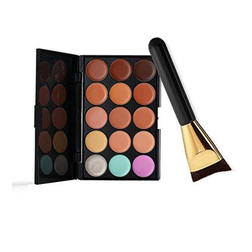 Susenstone 15 Couleurs de Palette Correcteur + Pinceau de Maquillage