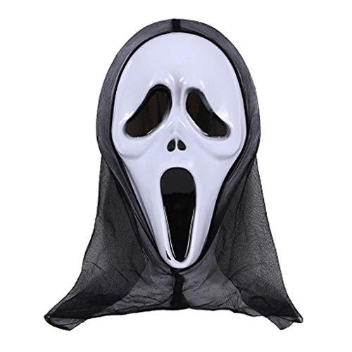 Dabixx Halloween Maske Schädel Geist Scary Terror Schrei Maskerade Party Cosplay Kostüm - D #