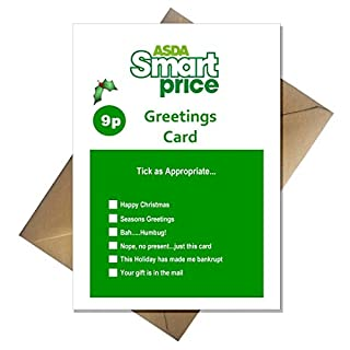 ASDA Smart Price Christmas Card - Value Xmas Joke