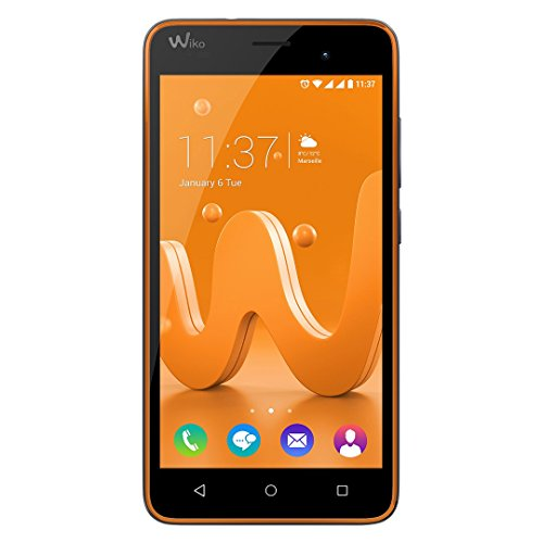 "Wiko Jerry Dual SIM 16GB Grey,Orange - Smartphones (12.7 cm (5""), 16 GB, 5 MP, Android, 6.0 Marshmallow, Grey, Orange)"