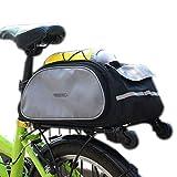 Huntvp® Bici Borsa Posteriore Cremagliera Pacchetto Zaino Multifunzionale Custodia per Sacchetto Impermeabile 13L Nero