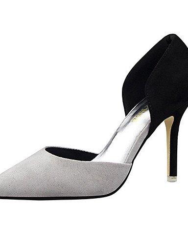 WSS 2016 Chaussures Femme-Décontracté-Noir / Rose / Rouge / Gris / Fuchsia-Talon Aiguille-Talons-Talons-Laine synthétique gray-us6.5-7 / eu37 / uk4.5-5 / cn37