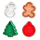 ElecMotive 4 teilige Weihnachts-Plätzchenausstecher Cookie Cutters...