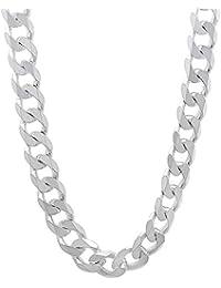Para hombre 6,5 mm, esterlina-plata 925, incluye collar de cadena CUBAN Link