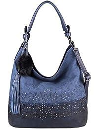 0f27a7576a300d OBC Damen Tasche Shopper Hobo-Bag Henkeltasche Schultertasche Umhängetasche  Handtasche Crossover CrossBag Damentasche…