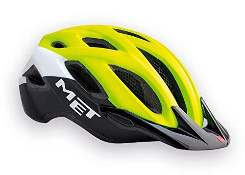MET Crossover Fahrradhelm, Safety Yellow/Black, M