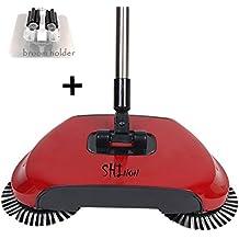 3 en 1 mano empuje escoba barredora 360 ° máquina de limpieza giratoria
