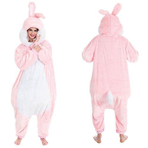 Maskottchen Kostüm Kaninchen - Kostüm Maskottchen Anzug rosa Kaninchen 180 cm Mann