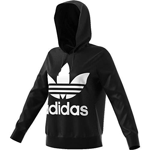 adidas Damen Trefoil Kapuzenpullover, schwarz (Black), 38
