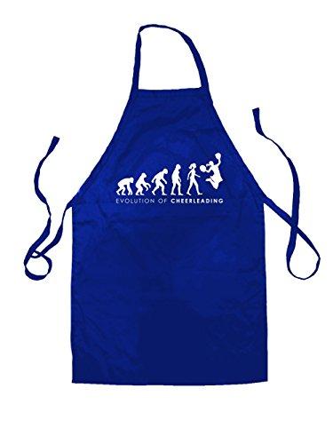 Cheerdance Blau Kostüm (Evolution of Woman - Cheerleading - Unisex Schürzen Passend Für Erwachsene - Royalblau - Eine)