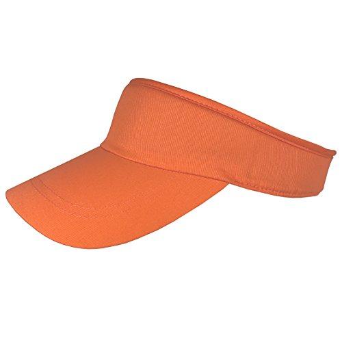 Damen - Visor Sommer Sunvisor Sonnenblende Sonnenschild - 30104518 (Orange, ca. 55 cm - 59 cm)