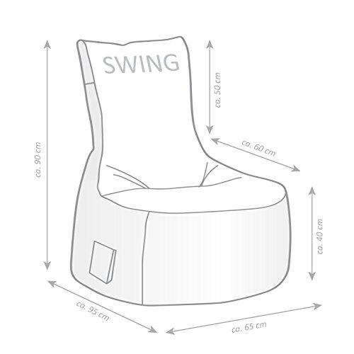 Sitzsack-Set Scuba Swing mit Hocker anthrazit - 6