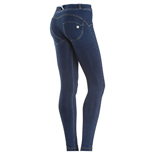 Freddy Donna Pantalone Lungo WR.UP Shaping Effect Skinny WRUP1RJ1E J0Y Scuro-Cuciture Gialle (S)
