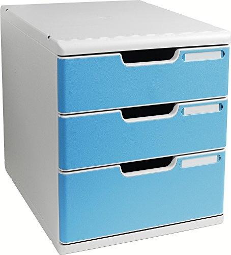 Cassettiera modulo A4Idearama opaco chiuso a tre cassetti, colore: grigio (1 File Cassettiera)