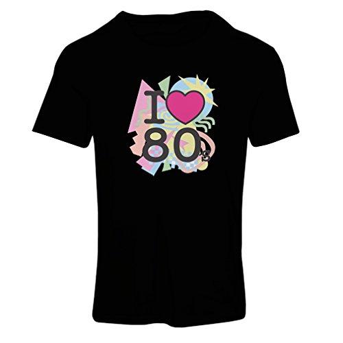 iebe 80er Konzert t-shirts Weinlese Kleidungs Musik t-shirts geschenke (XX-Large Schwarz Mehrfarben) (80er-jahre-themen-kleidung)