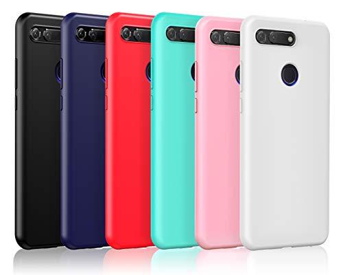 VGUARD [6 Pack] Cover per Huawei Honor View 20, Ultra Sottile Silicone Custodia Morbido TPU Case...