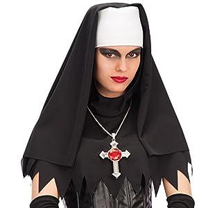 Carnival Toys - Velo monja de tejido en bolsa, color negro y blanco (6168)