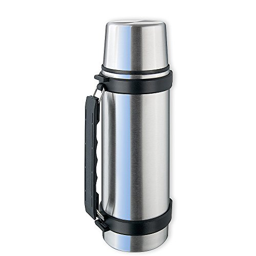 Isosteel VA-9552Q Thermos in acciaio INOX 0,75 L con sistema Quickstop, manico...