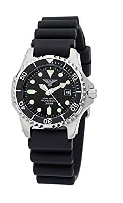 Army Watch Sport by Eichmüller-Reloj de Buceo con correa de PU 20ATM (200m resistente al agua) EP880 de Eichmüller