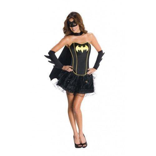 rl Supergirl Wonder Woman Robin Super Hero Korsett Tutu Halloween Junggesellinnenabschied Kostüm Kleid Outfit 6-18 - Schwarz, 16-18 (Tutu Wonder Woman)
