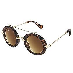 Danny Daze UV Protected Round Women Sunglasses (D-2110-C2|51MM|Brown)