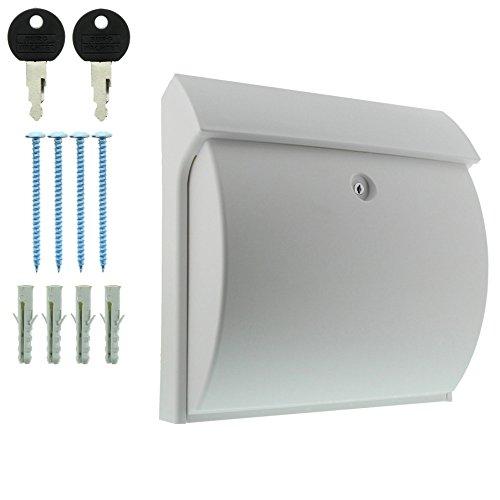 BURG-WÄCHTER, Kompakter Briefkasten mit Öffnungsstopp, A4 Einwurf-Format, Vollkunststoff, Classico 4931 W, Weiß - 6