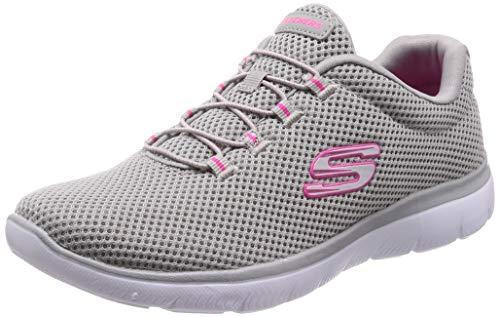 Skechers summits, scarpe da ginnastica donna, grigio (grey/hot pink gyhp), 39 eu