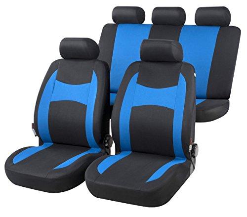 RMG R05IT129 coprisedili per i10 fodere auto blu e neri compatibili con sedili con airbag braciolo e sedili sdoppiabili