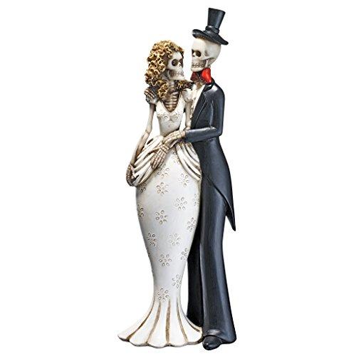 Design Toscano Tag der Toten, Skelettbraut und -bräutigam