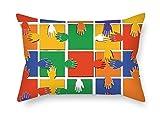 Slimmingpiggy Kissenbezüge von Color Block 50,8x 76,2cm/50von 75cm beste Passform für Sofa Verwandte Boxspring-Betten Erwachsene Verwandte beiden Seiten