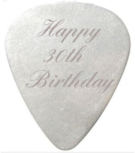 Happy 40th Birthday Guitar Pick / Plectrum with black velvet gift pouch