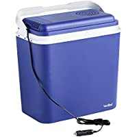 VonShef Electric Cool Box - Large 22L Insulated Cooler with 12V DC Car Adaptor - Blue