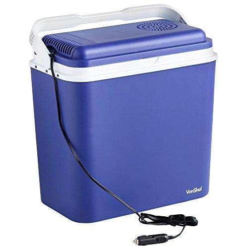 VonShef Large Glacière électrique/Prise Allume Cigare 22L - Bleue