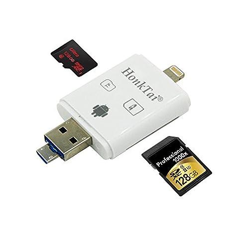 honktai High Speed Lightning iReader USB SDHC SDXC Micro SD OTG Kartenleser für die 128G SD/TF, Foto-Scrollen durch und Thumbnail Bilder für iOS iPhone iPad Air 2Mac PC & OTG