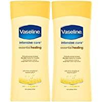 x2 Vaseline Intensive Care Essential Healing Dry Skin Body Lotion 200ml