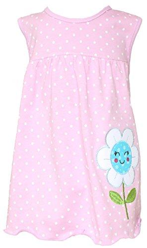 Sommer SALE! Sommerkleid | Shirt-Kleid Pincess Taufkleid Modell 21 pastellrosa gepunktet mit Blume