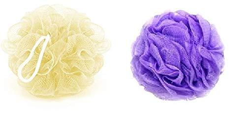 Moira Mesh Bath Set of 2 Loofah for Men and Women (Peach & Purple 35 g Each)