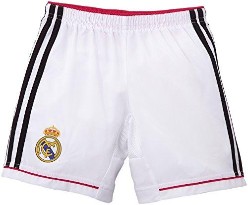 adidas Kinder Shorts Real Madrid Heimshorts 2014/2015 Replica, White/Black/Blast Pink, 164, M37456 (Mesh Knit Adidas Pants)