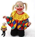 KarnevalsTeufel Kinderkostüm Cape Clown Clown-Umhang 1-TLG. lustiges Kostüm für Kinder, Spaßvogel, Zirkus, Karneval, Fasching ( 98)