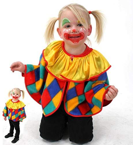 KarnevalsTeufel Kinderkostüm Cape Clown Clown-Umhang 1-TLG. lustiges Kostüm für Kinder, Spaßvogel, Zirkus, Karneval, Fasching ( 98) (Lustige Halloween-kostüme Kinder)