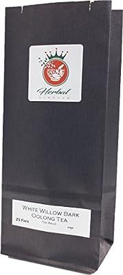 L'écorce de saule blanc bio Thé Oolong de sachets de tisane - Paquet de 25
