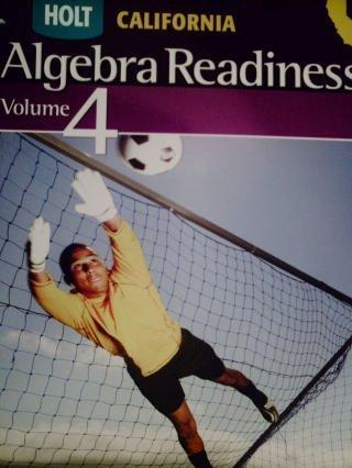 Holt Algebra Readiness: Student Edition Volume 4 (Alg Readiness 2008)