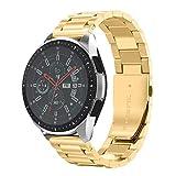NotoCity Compatible Bracelet Samsung Galaxy Watch 46mm, Bande de Montre en Acier Inoxydable de 22mm pour Gear S3 Frontier/ S3 Classic,Huawei Watch GT/Huawei Watch 2 Classic,Ticwatch Pro