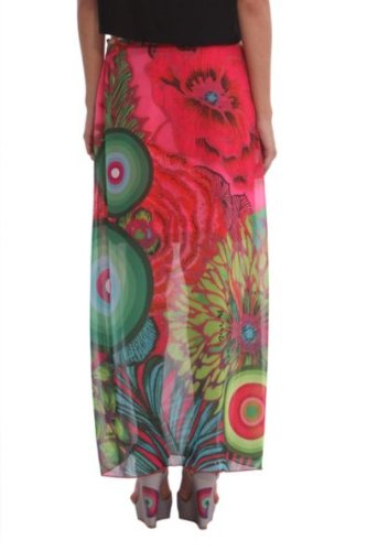 Desigual - brenda - jupe - plissée - femme Rouge (Fuxia Magico)