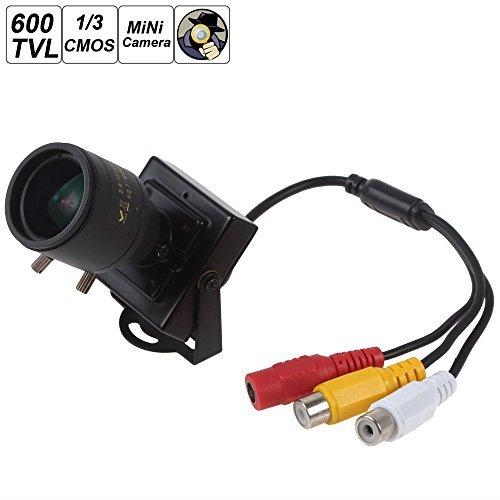 ePathChina PAL 2,8-12mm Manuelle Objektiv 600TVL 1/3 CMOS HD Sensor DC 12V Mini Spy Versteckte Kamera Sicherheit Farbe Nachtsicht CCTV Kamera Unterstützung Video und Audio-Ausgaang 8 Mm Video-kameras